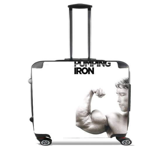 "Pumping Iron for Wheeled bag cabin luggage suitcase trolley 17"" laptop"