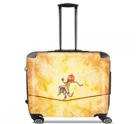 "Pumpkin Tightrope Walker for Wheeled bag cabin luggage suitcase trolley 17"" laptop"