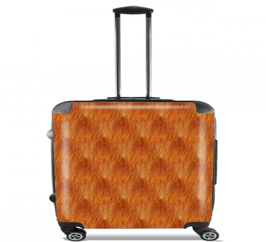 "Puppy Fur Pattern for Wheeled bag cabin luggage suitcase trolley 17"" laptop"