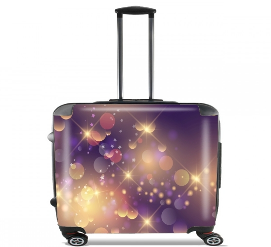 "Purple Sparkles for Wheeled bag cabin luggage suitcase trolley 17"" laptop"