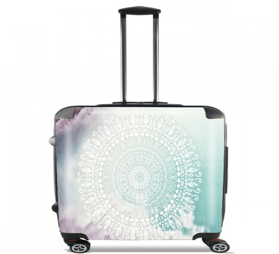 "RAINBOW CHIC MANDALA for Wheeled bag cabin luggage suitcase trolley 17"" laptop"