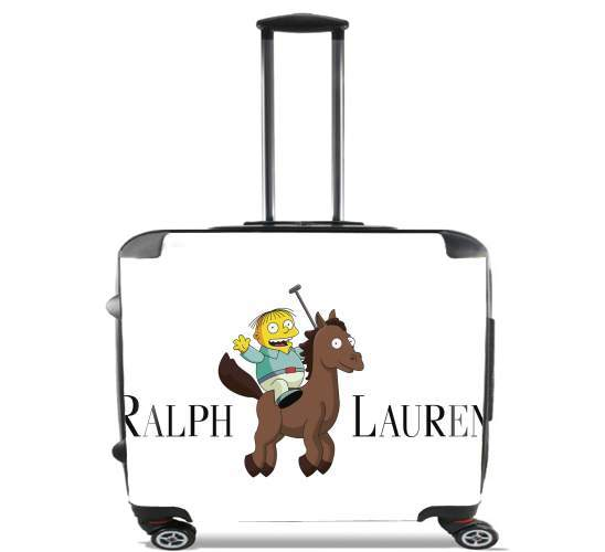 "Ralph Lauren Parody for Wheeled bag cabin luggage suitcase trolley 17"" laptop"