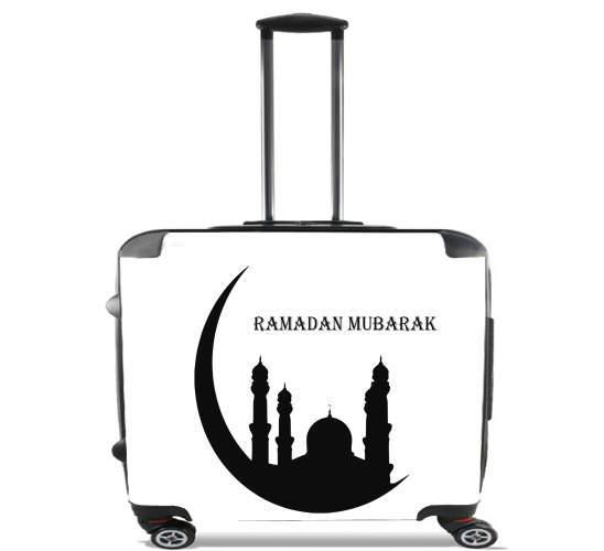 "Ramadan Kareem Mubarak for Wheeled bag cabin luggage suitcase trolley 17"" laptop"