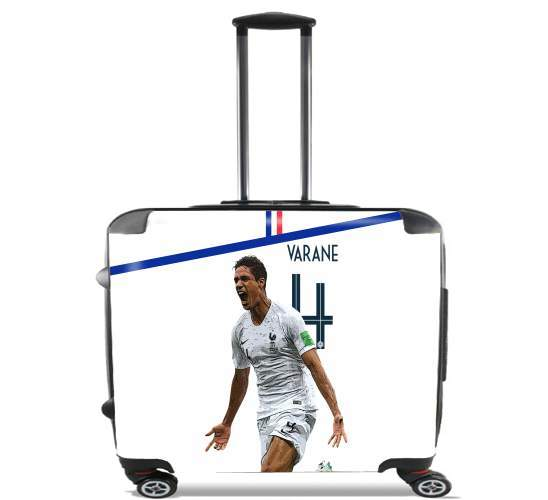 "Raphael Varane Football Art for Wheeled bag cabin luggage suitcase trolley 17"" laptop"