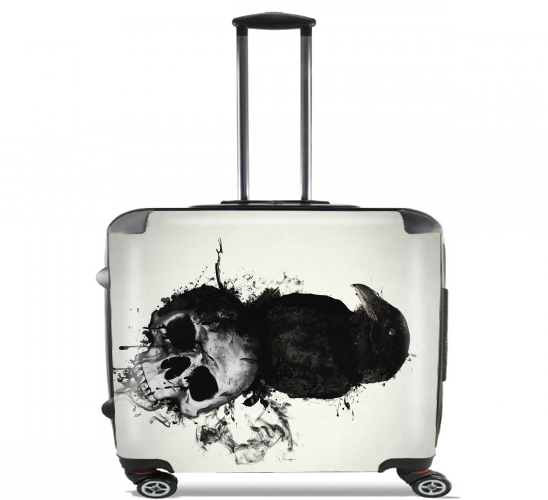 "Raven and Skull for Wheeled bag cabin luggage suitcase trolley 17"" laptop"
