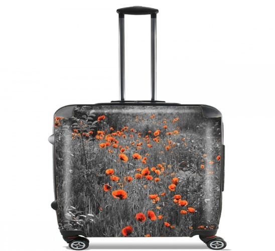 "Red and Black Field for Wheeled bag cabin luggage suitcase trolley 17"" laptop"