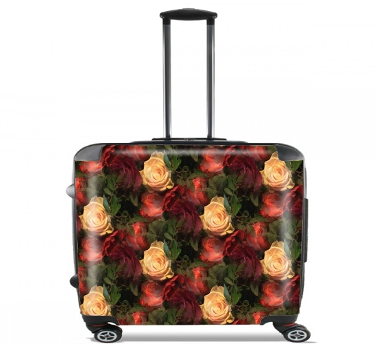 "Vintage Rose Garden for Wheeled bag cabin luggage suitcase trolley 17"" laptop"