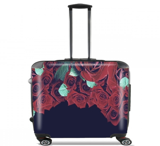 "Roses for Wheeled bag cabin luggage suitcase trolley 17"" laptop"