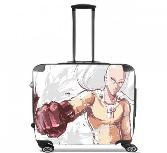 "Saitama fanart for Wheeled bag cabin luggage suitcase trolley 17"" laptop"
