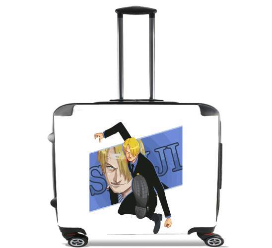 "Sanji the pirat smoker for Wheeled bag cabin luggage suitcase trolley 17"" laptop"