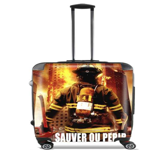 "Save or perish Firemen fire soldiers for Wheeled bag cabin luggage suitcase trolley 17"" laptop"