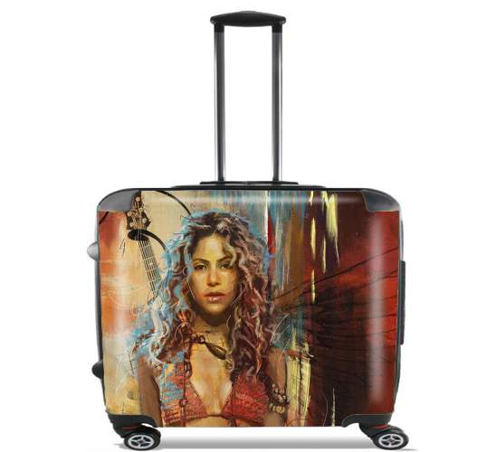 "Shakira Painting for Wheeled bag cabin luggage suitcase trolley 17"" laptop"