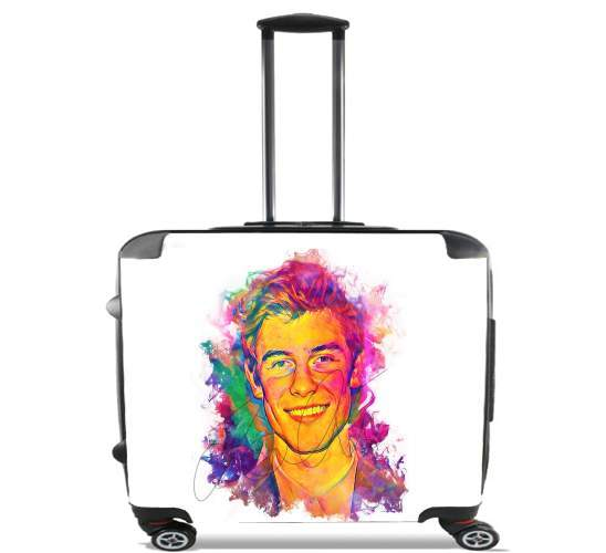 "Shawn Mendes - Ink Art 1998 for Wheeled bag cabin luggage suitcase trolley 17"" laptop"