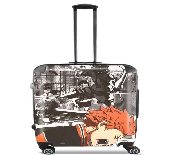 "Shoyo Hinata Haikyuu for Wheeled bag cabin luggage suitcase trolley 17"" laptop"