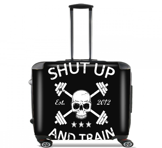 "Shut Up and Train for Wheeled bag cabin luggage suitcase trolley 17"" laptop"