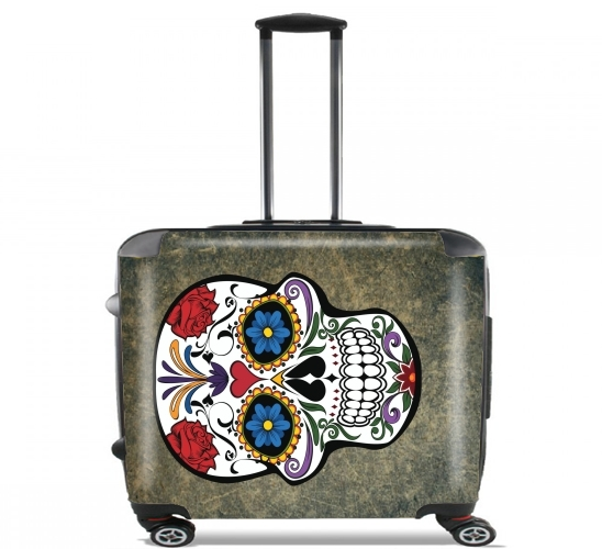 "Skull for Wheeled bag cabin luggage suitcase trolley 17"" laptop"