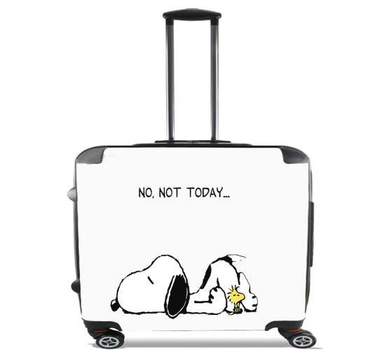 "Snoopy No Not Today for Wheeled bag cabin luggage suitcase trolley 17"" laptop"