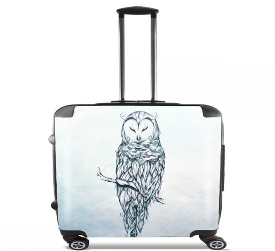 "Snow Owl for Wheeled bag cabin luggage suitcase trolley 17"" laptop"