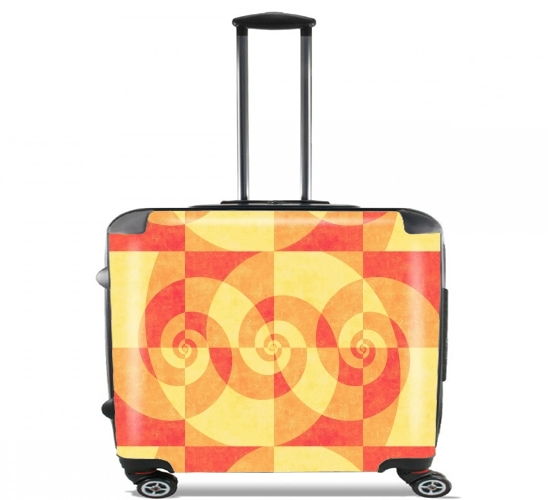 "SPIRAL ORANGE for Wheeled bag cabin luggage suitcase trolley 17"" laptop"