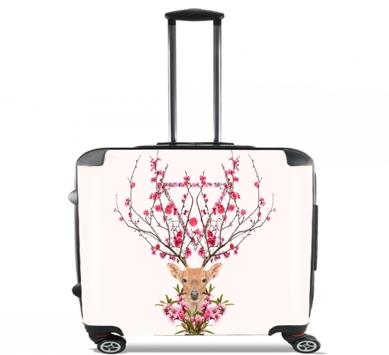 "Spring Deer for Wheeled bag cabin luggage suitcase trolley 17"" laptop"
