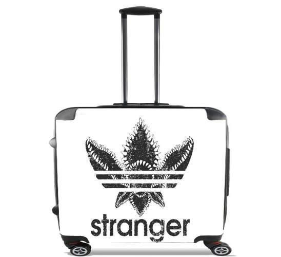 "Stranger Things Demogorgon Monster JOKE Adidas Parodie Logo Serie TV for Wheeled bag cabin luggage suitcase trolley 17"" laptop"