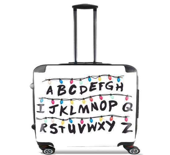 "Stranger Things Lampion Alphabet Inspiration for Wheeled bag cabin luggage suitcase trolley 17"" laptop"