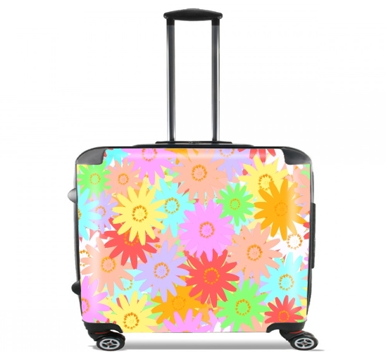 "Summer BLOOM for Wheeled bag cabin luggage suitcase trolley 17"" laptop"