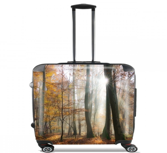 "Sun rays in a mystic misty forest for Wheeled bag cabin luggage suitcase trolley 17"" laptop"