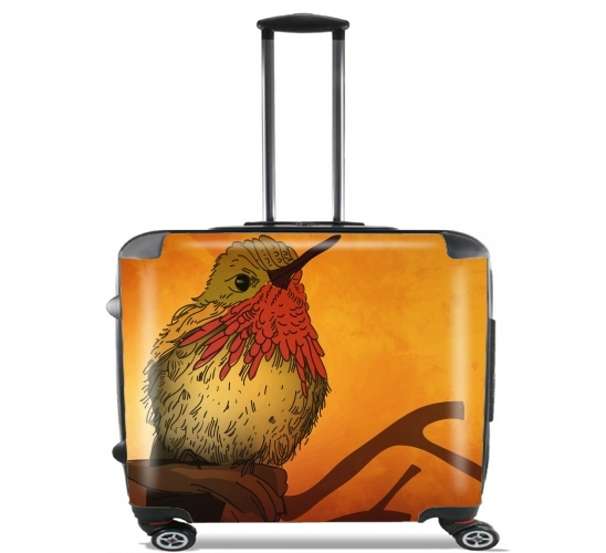 "Sunset Bird for Wheeled bag cabin luggage suitcase trolley 17"" laptop"