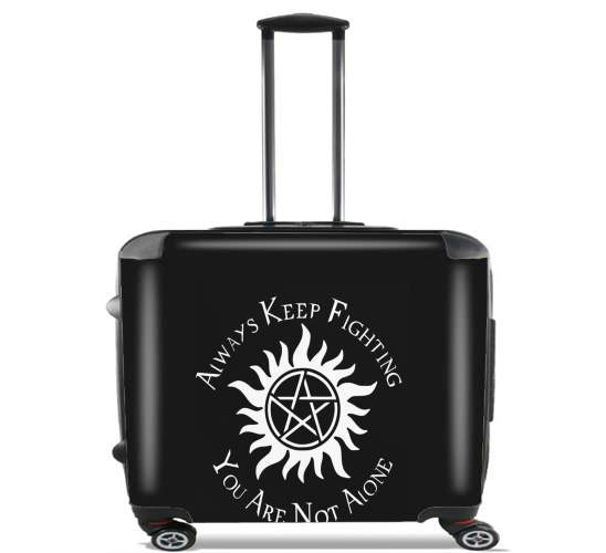 "SuperNatural Never Alone for Wheeled bag cabin luggage suitcase trolley 17"" laptop"