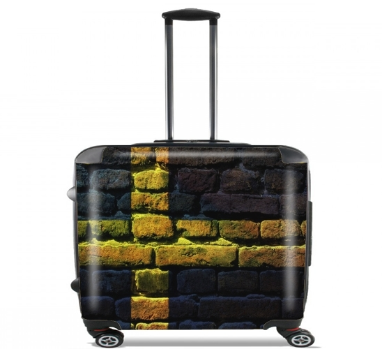 "Sweden Brickwall for Wheeled bag cabin luggage suitcase trolley 17"" laptop"