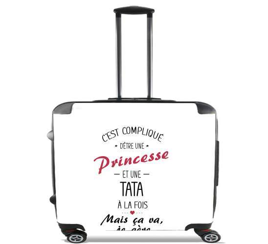 "Tata et Princesse for Wheeled bag cabin luggage suitcase trolley 17"" laptop"