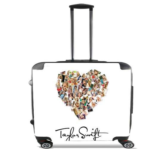 "Taylor Swift Love Fan Collage signature for Wheeled bag cabin luggage suitcase trolley 17"" laptop"