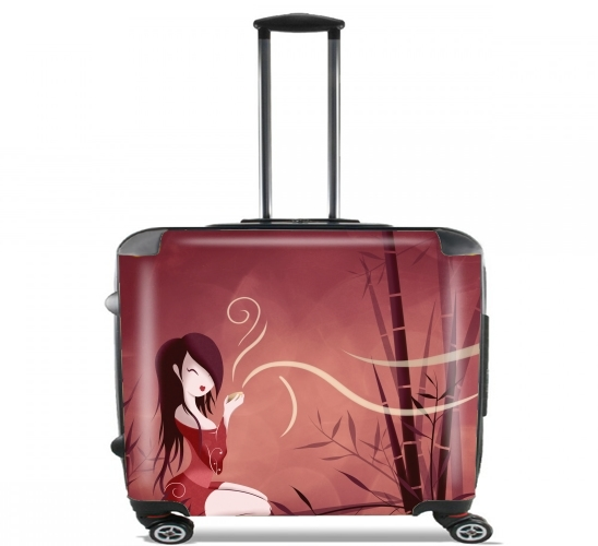 "Tea Time for Wheeled bag cabin luggage suitcase trolley 17"" laptop"