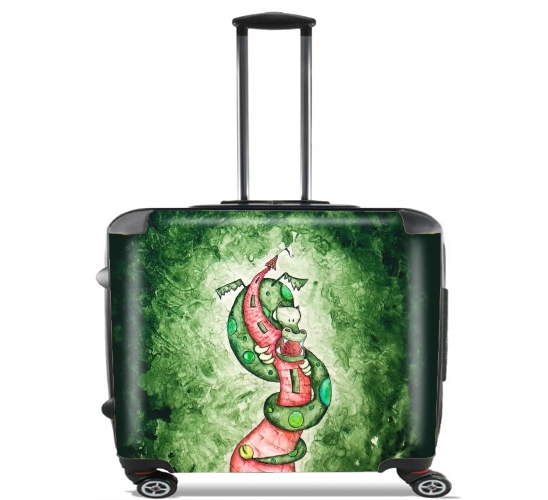 "The Dragon and The Tower for Wheeled bag cabin luggage suitcase trolley 17"" laptop"