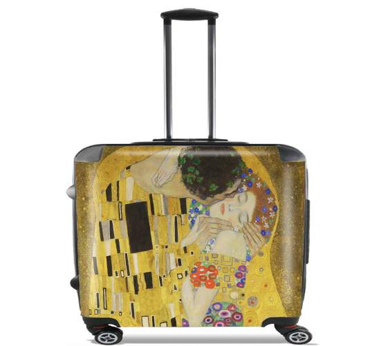 "The Kiss Klimt for Wheeled bag cabin luggage suitcase trolley 17"" laptop"