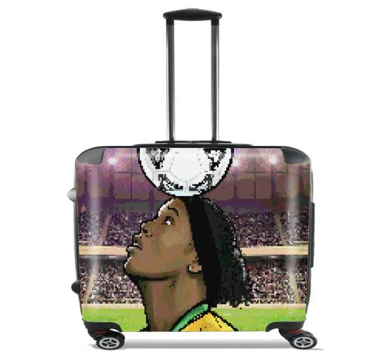 "The Magic Carioca Brazil Pixel Art for Wheeled bag cabin luggage suitcase trolley 17"" laptop"