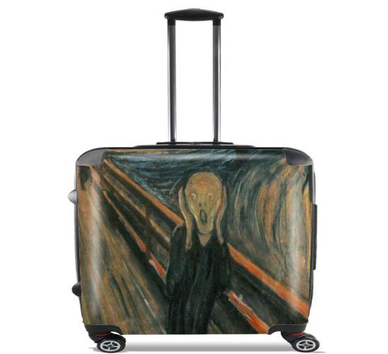 "The Scream for Wheeled bag cabin luggage suitcase trolley 17"" laptop"
