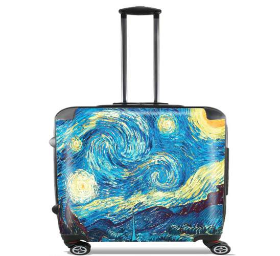 "The Starry Night for Wheeled bag cabin luggage suitcase trolley 17"" laptop"