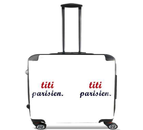 "titi parisien for Wheeled bag cabin luggage suitcase trolley 17"" laptop"