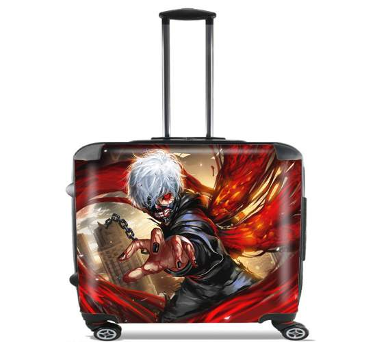 "Tokyo Ghoul for Wheeled bag cabin luggage suitcase trolley 17"" laptop"