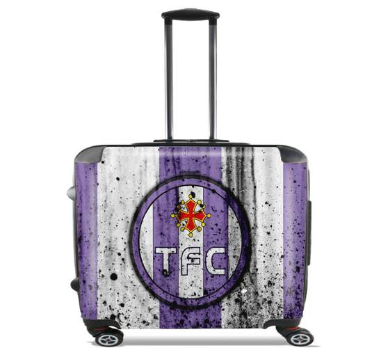 "Toulouse Football Club Maillot for Wheeled bag cabin luggage suitcase trolley 17"" laptop"