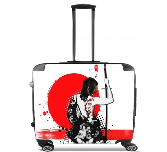 "Trash Polka - Female Samurai for Wheeled bag cabin luggage suitcase trolley 17"" laptop"