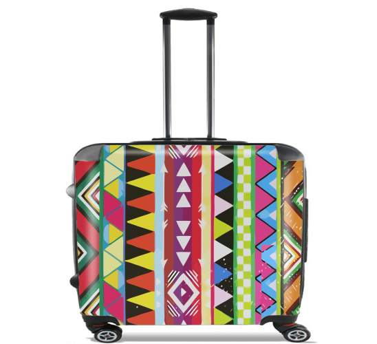 "Tribal Girlie for Wheeled bag cabin luggage suitcase trolley 17"" laptop"