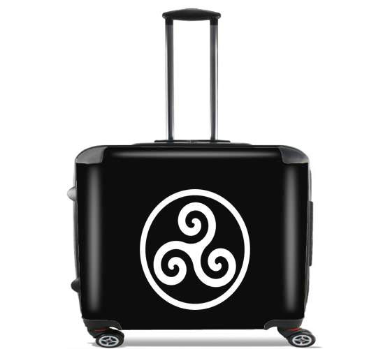 "Triskel Symbole for Wheeled bag cabin luggage suitcase trolley 17"" laptop"