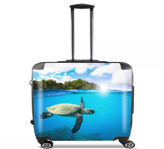 "Tropical Paradise for Wheeled bag cabin luggage suitcase trolley 17"" laptop"