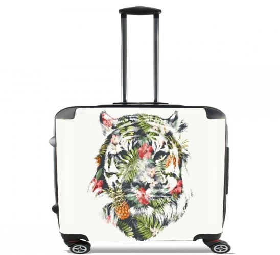 "Tropical Tiger for Wheeled bag cabin luggage suitcase trolley 17"" laptop"