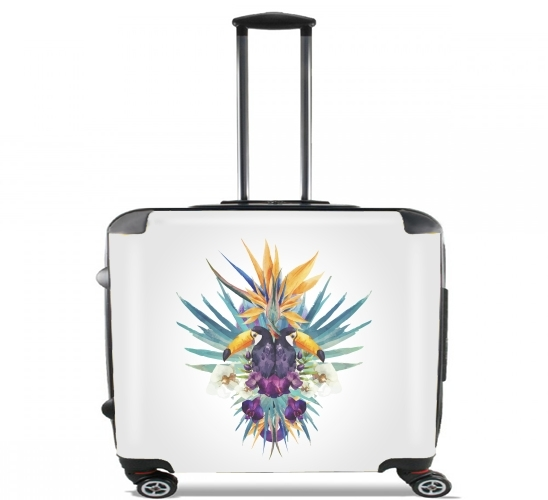 "Tropical Tucan for Wheeled bag cabin luggage suitcase trolley 17"" laptop"
