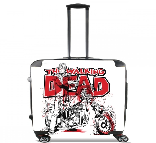 "TWD Daryl Squirrel Dixon for Wheeled bag cabin luggage suitcase trolley 17"" laptop"