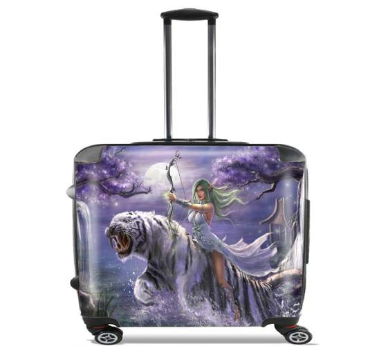 "Tyrande Whisperwind World Of Warcraft Art for Wheeled bag cabin luggage suitcase trolley 17"" laptop"